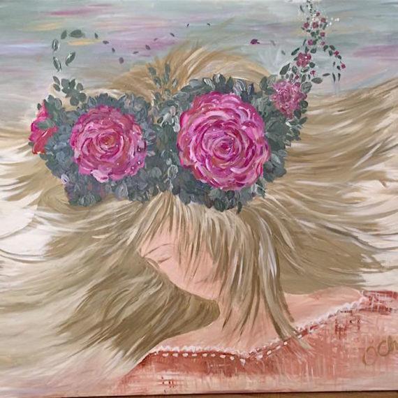 Floating Flower Crown Lady